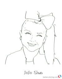 Jojo Siwa Colouring Pages Jojo Dance - Free Printable ...