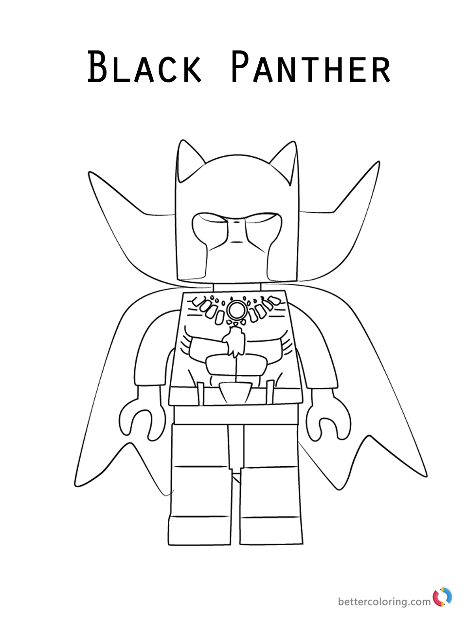 Free Coloring Pages Download : Black Panther Lego Coloring Pages Free  Printable Coloring Pages Of Black