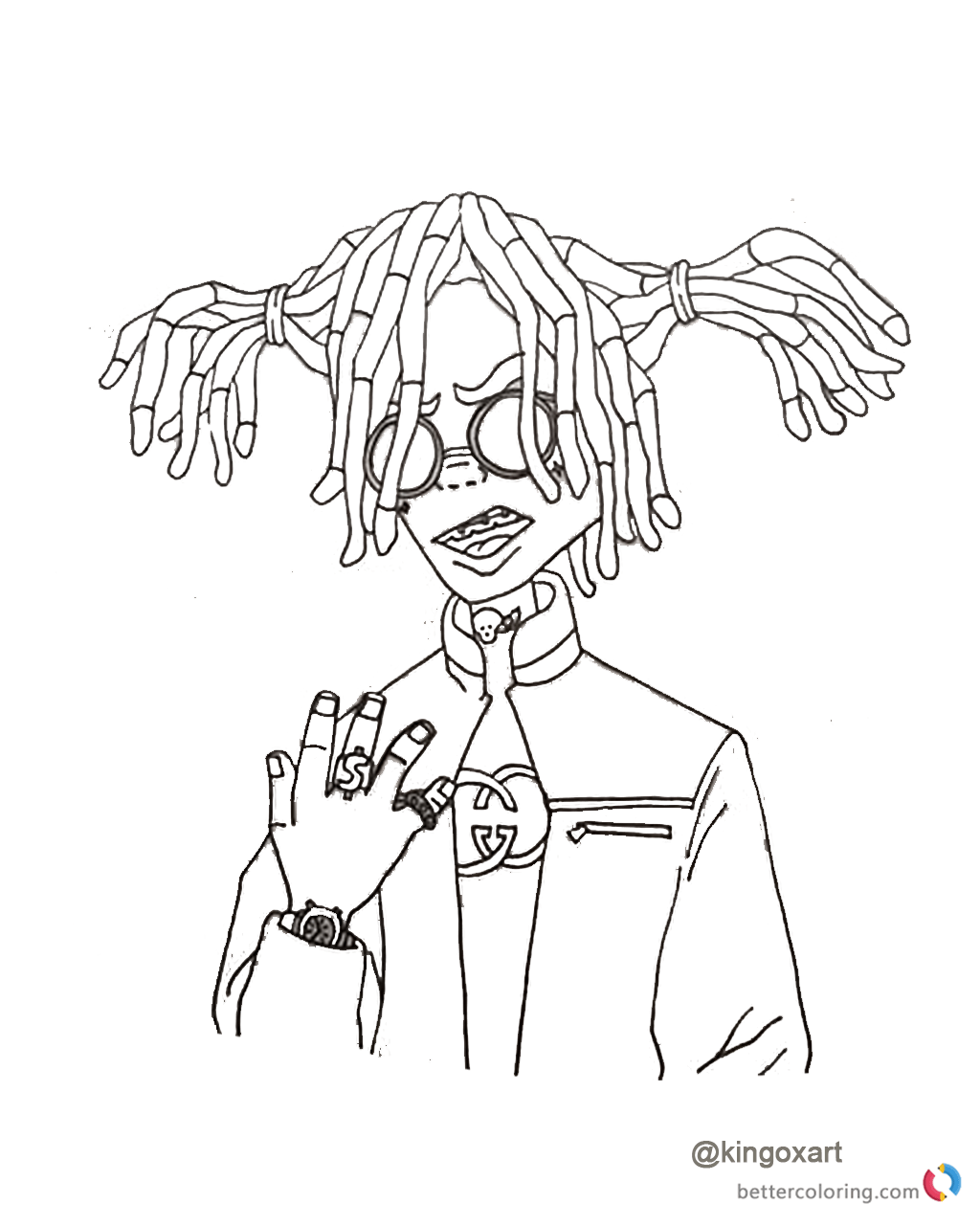 Lil Pump Coloring Sheet Free Printable Coloring Pages