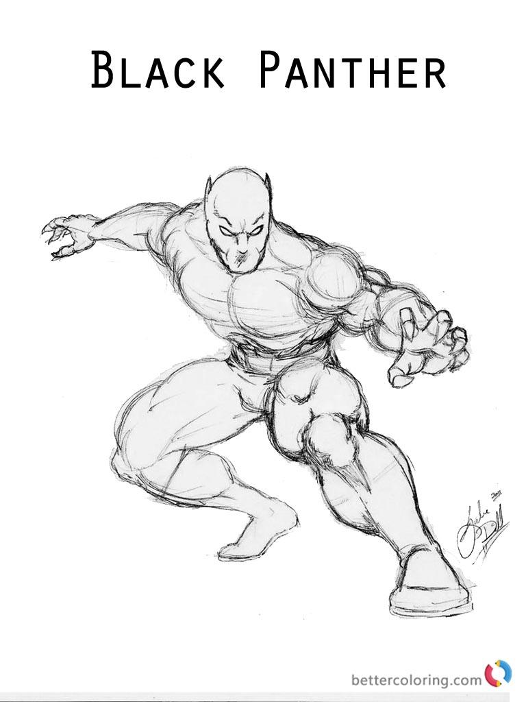 - √ Black Panther Printable Coloring Pages Superhero Black