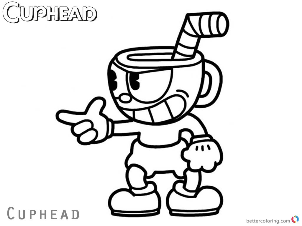 image regarding Cuphead Coloring Pages Printable identify Relaxed Cuphead Coloring Internet pages Cuphead And Mugman Printable