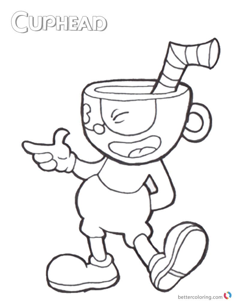 photo about Cuphead Coloring Pages Printable called 20+ Demon Thoughts Coloring Webpages Programs and Plans