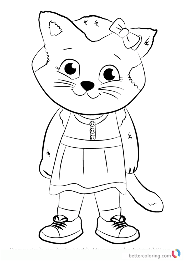 Daniel Striped Tiger From Daniel Tiger Coloring Pages