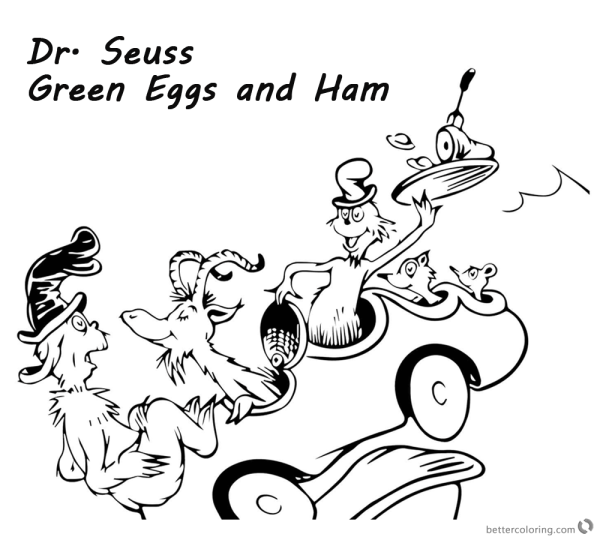 Dr. Seuss Green Eggs and Ham Coloring