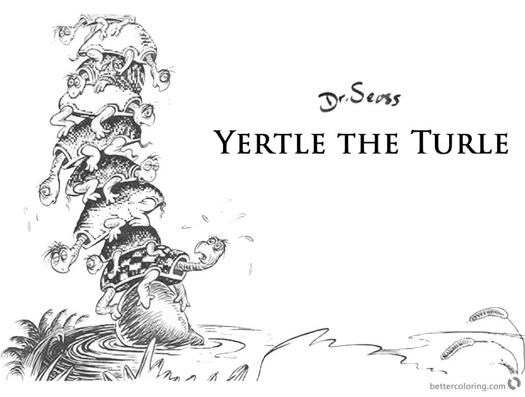 Yertle The Turtle Coloring Worksheet