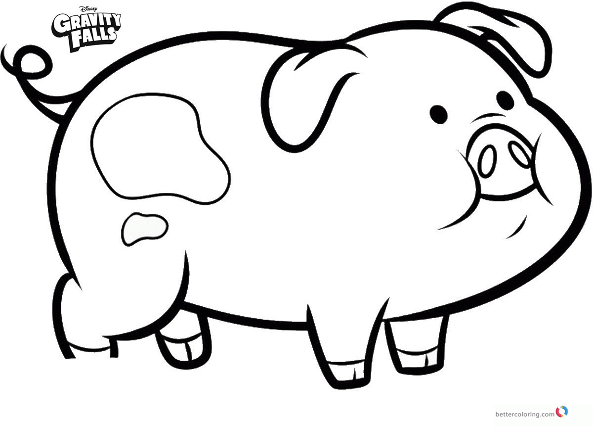 Gravity falls coloring pages pig waddles