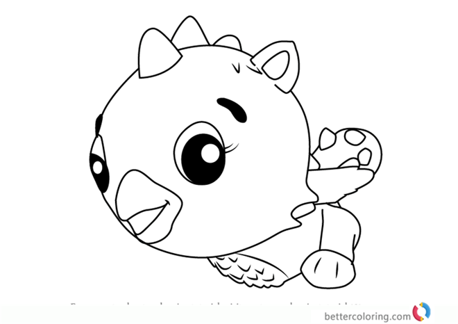 Cloud Draggle From Hatchimals Coloring Sheet Free