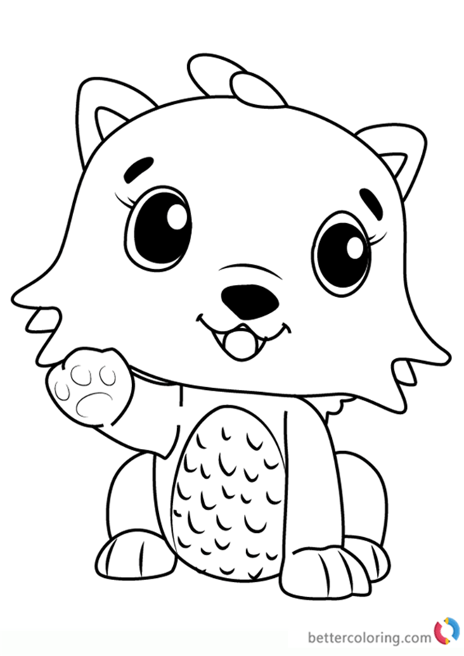 hatchimals para colorear  dibujos para colorear de hatchimals
