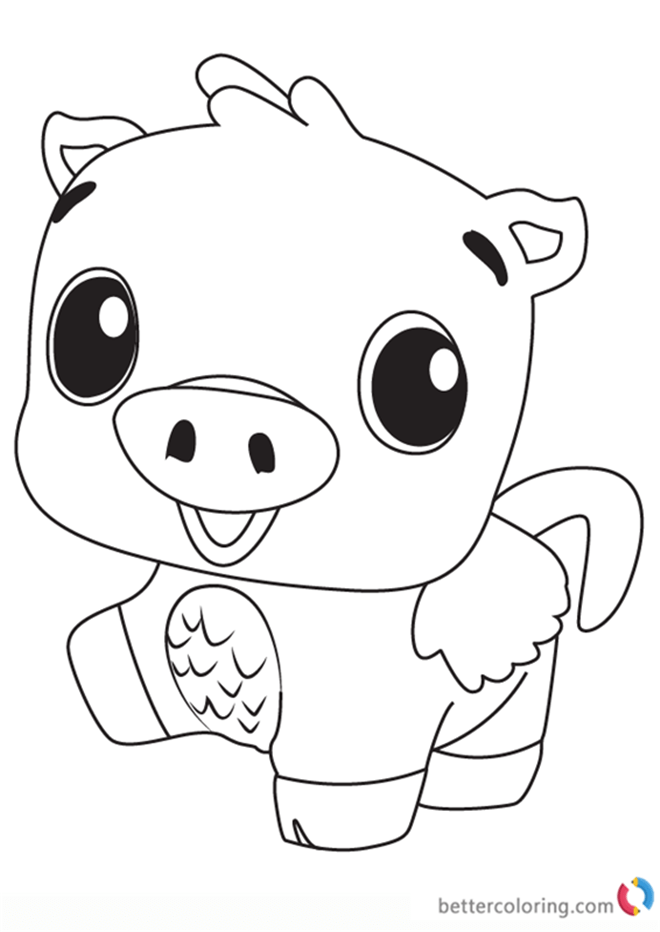 Gallery of bunwee from hatchimals coloring pages free