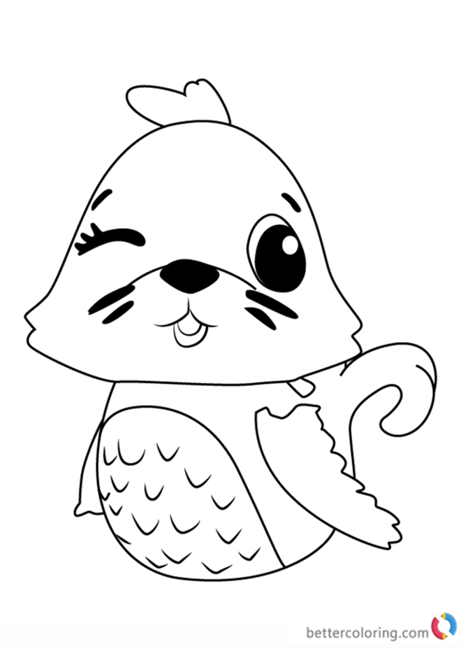 Polar Sealark From Hatchimals Coloring Pages Free