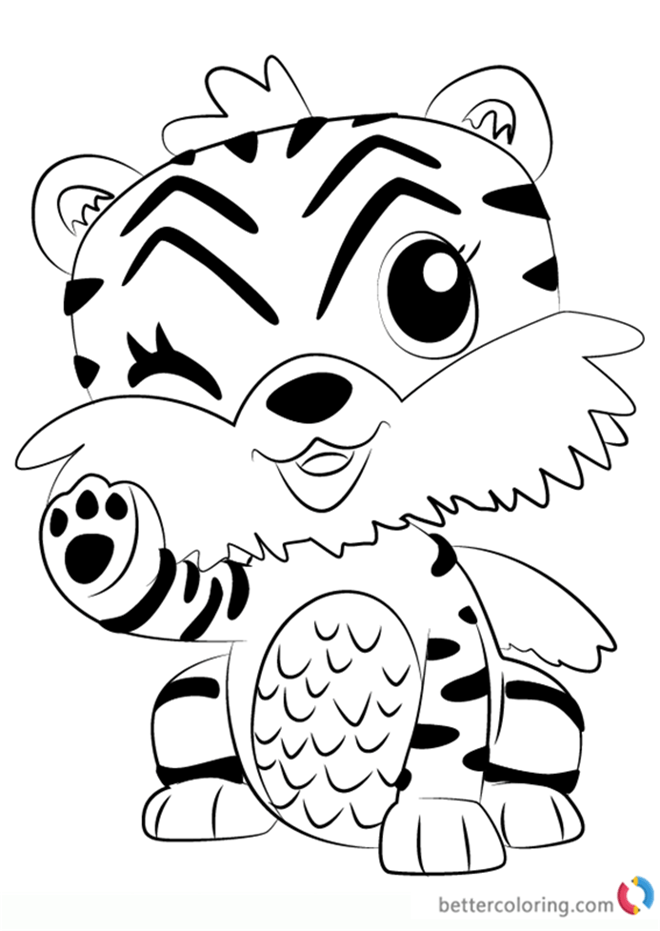 Zebrush From Hatchimals Coloring Pages