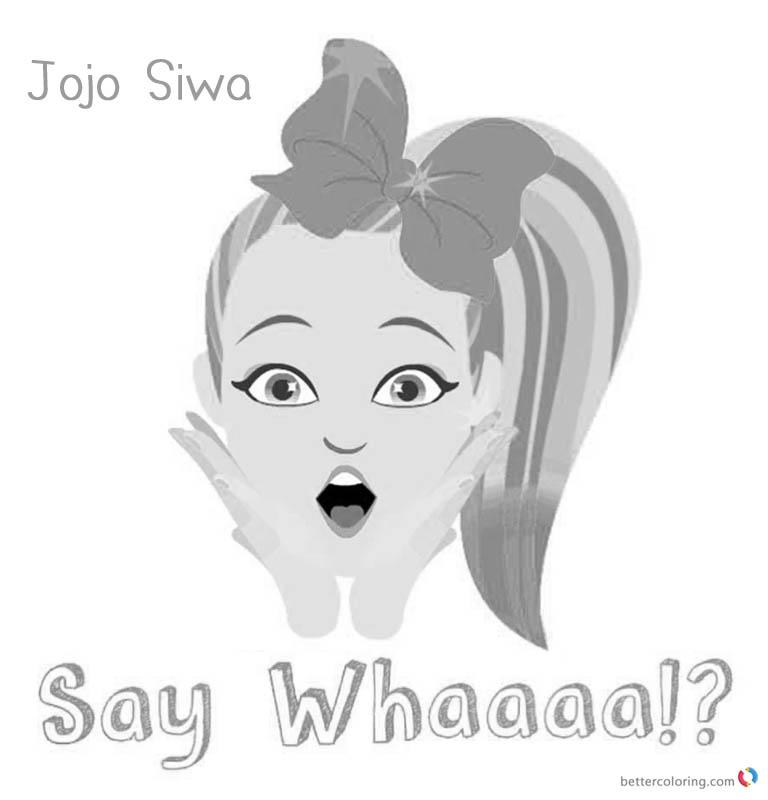 image regarding Jojo Siwa Coloring Pages Printable named √ Jojo Siwa Coloring Internet pages Jojo Say Whaaaa