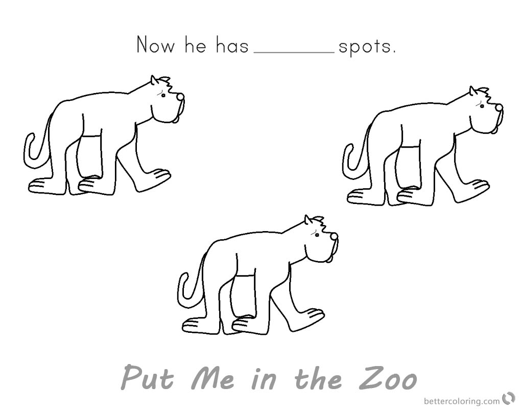 Put Me In The Zoo Coloring Pages Coloring Pages