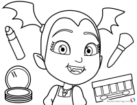 Vampirina Coloring Sheets Cute Vampirina Coloring Pages Batty