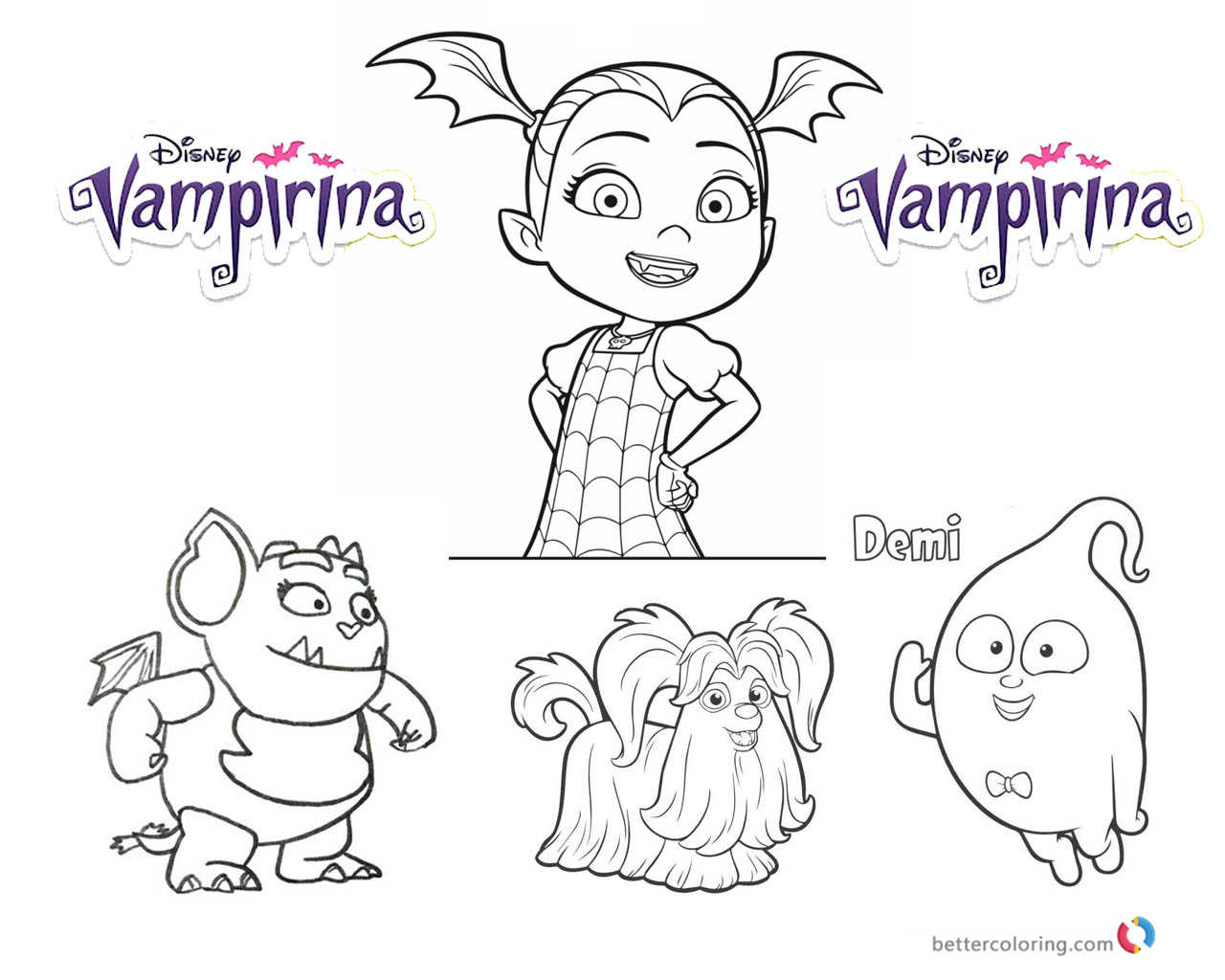 Vampirina Coloring Pages Vampirina And Cute Characters