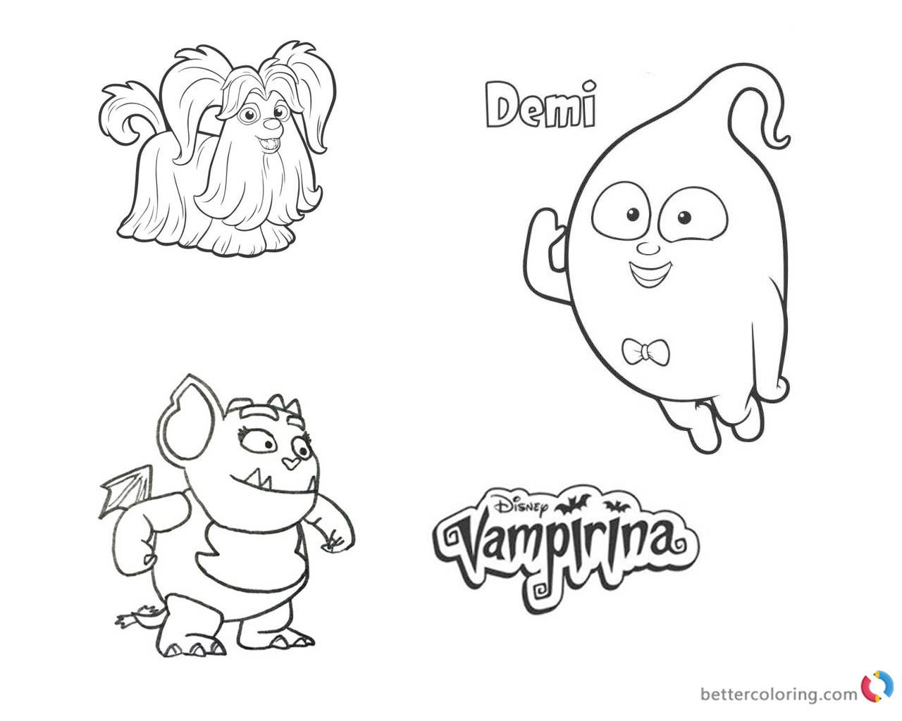 V Irina Coloring Pages Wolfie Demi And Gregoria Free Printable