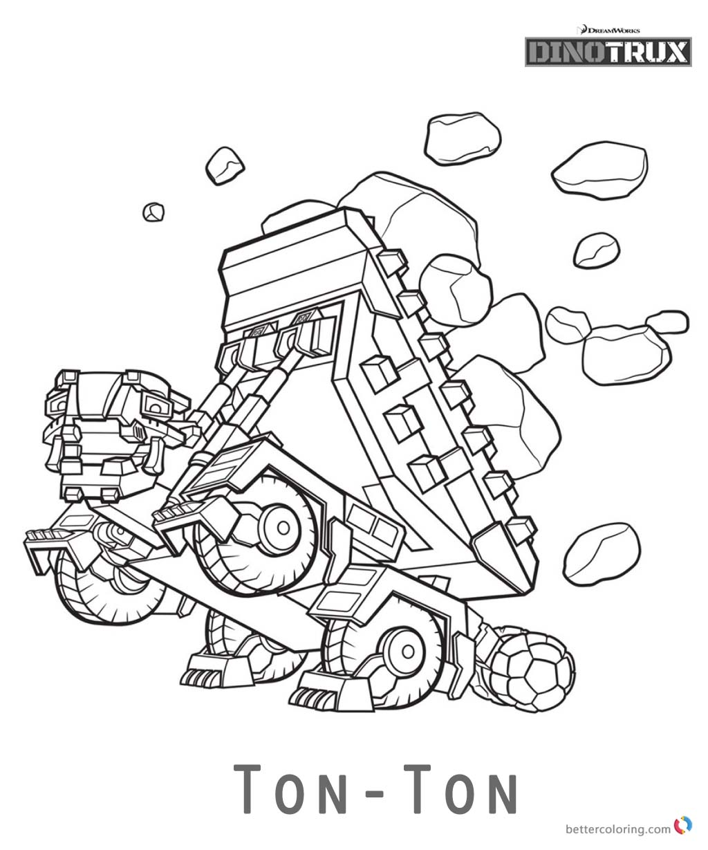 Printable Dinotrux Coloring Pages Sketch Coloring Page
