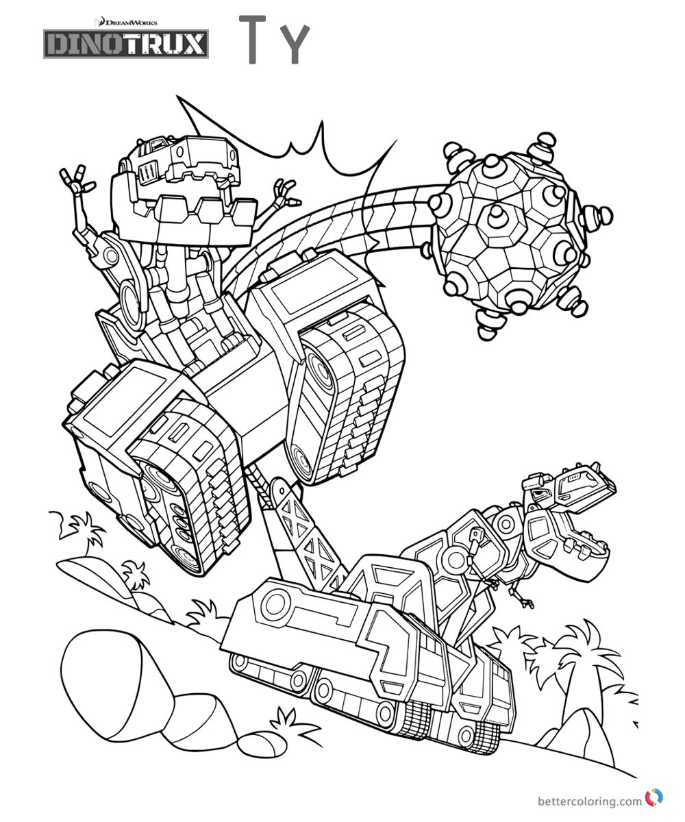 Dreamworks Dinotrux Coloring Pages
