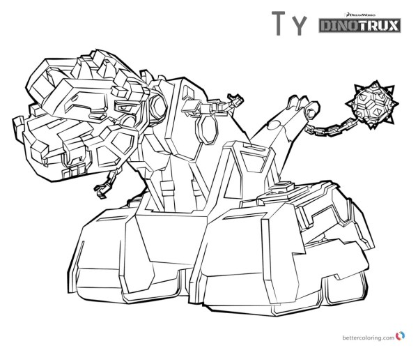 Dinotrux Tools Coloring Pages Pin - Thepinsta