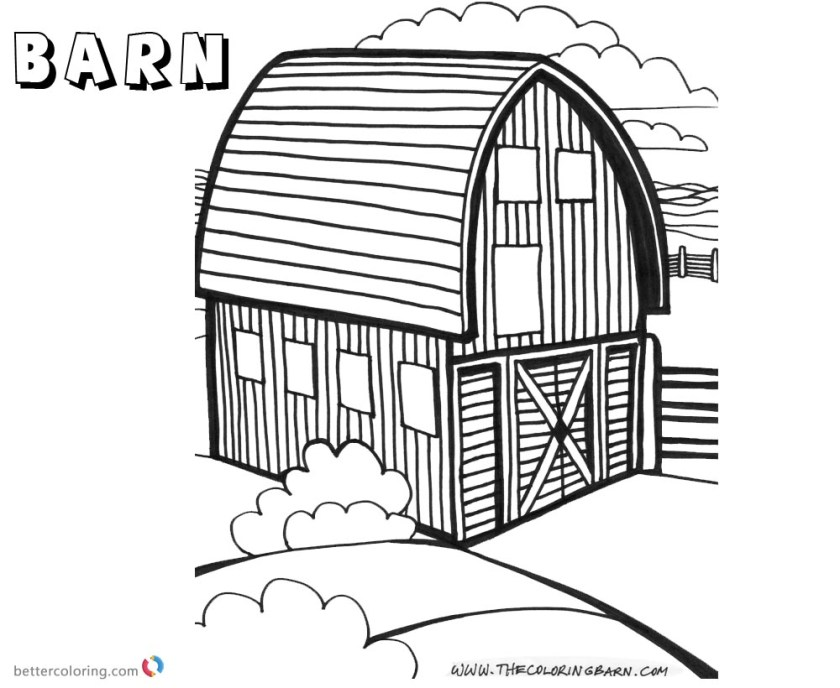 barn coloring pages round barn  free printable coloring pages
