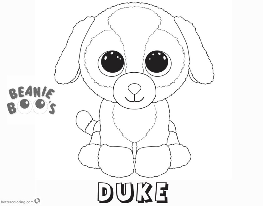 beanie boo coloring pages dog duke  free printable