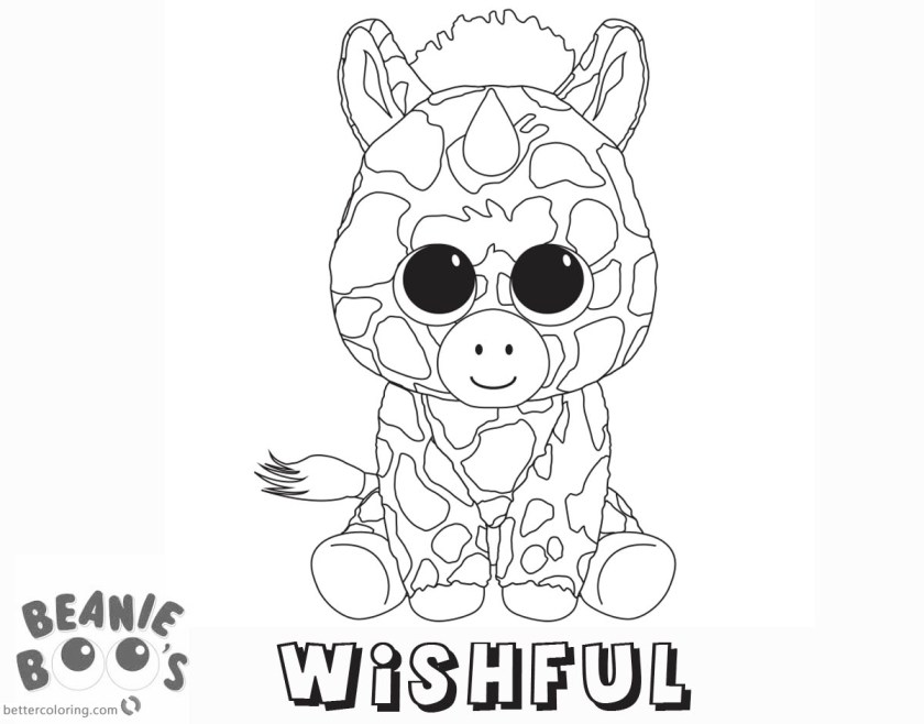 beanie boo coloring pages unicorn wishful  free printable