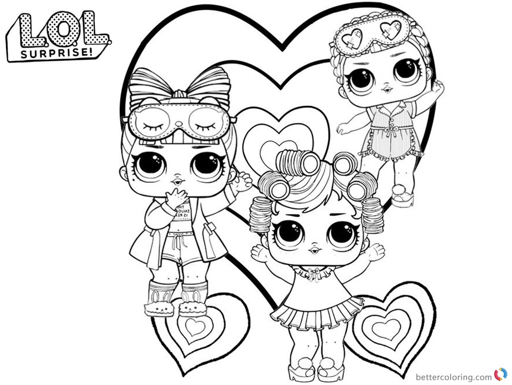 Lol Curls Pages Baby Coloring
