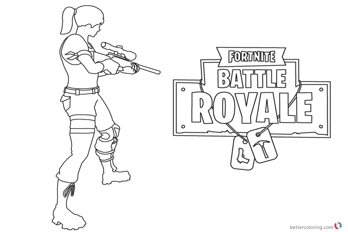 Fortnite Zoey Colouring Pages
