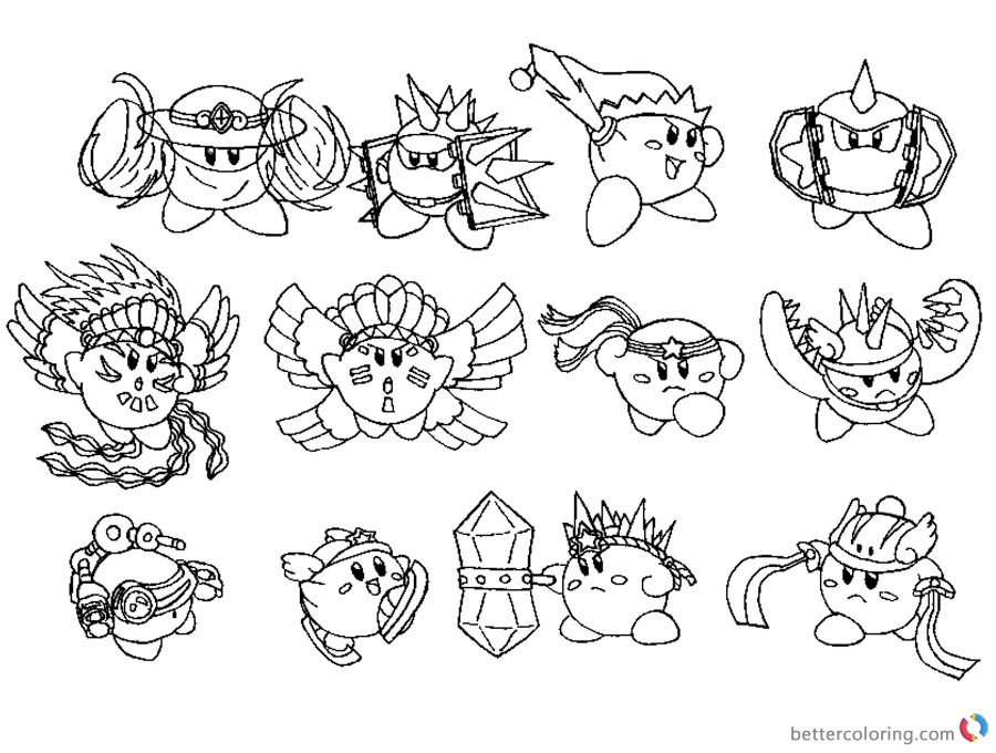 Kirby Coloring Pages Concept Art Kood Kirby Compound