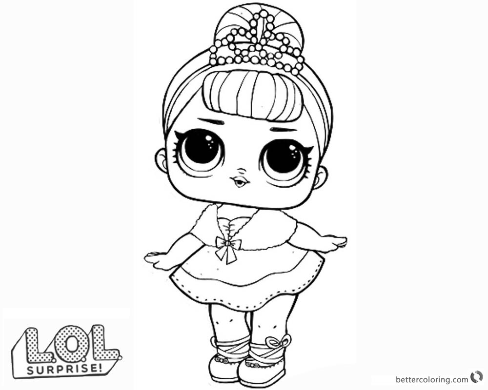 Coloring pages for hello kitty mermaid free print lol dolls queen