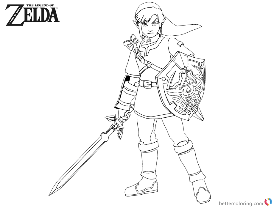 Zelda Triforce Shield Coloring Pages Coloring Pages