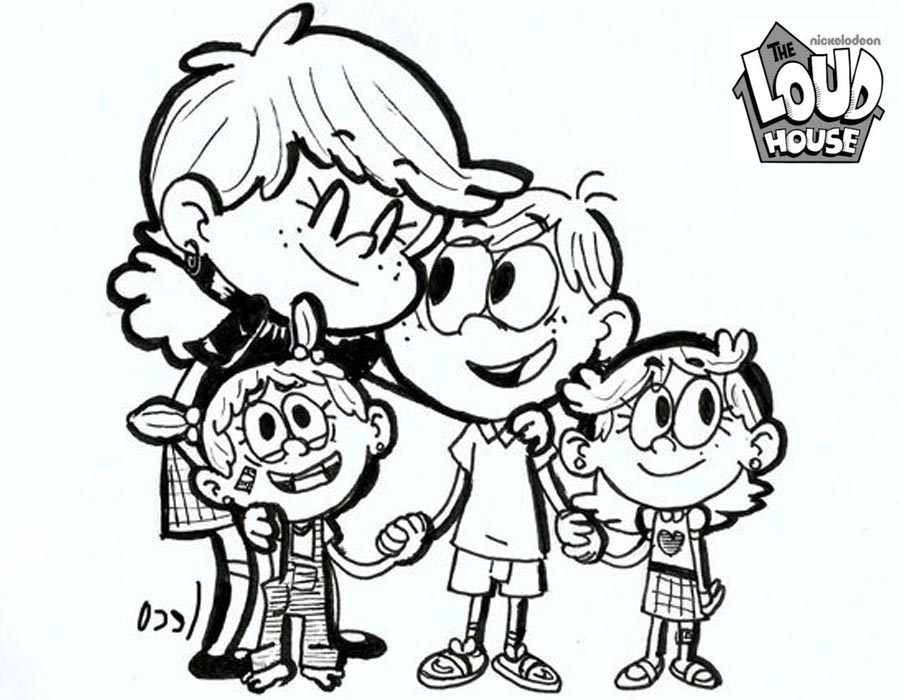 Cozy Loud House Coloring Pages Fanart By Safelecoreco Free