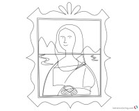 Mona Lisa Coloring Pages Clipart Picture - Free Printable ...