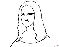 Mona Lisa Coloring Pages Easy How to Draw - Free Printable ...