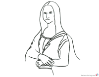 Mona Lisa Coloring Pages Pencil Clipart - Free Printable ...