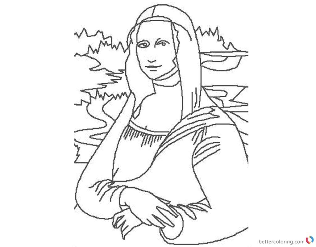 Mona Lisa Coloring Page