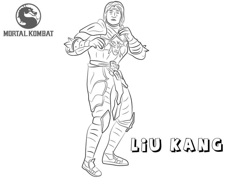 Mortal Kombat Liu Kang Coloring