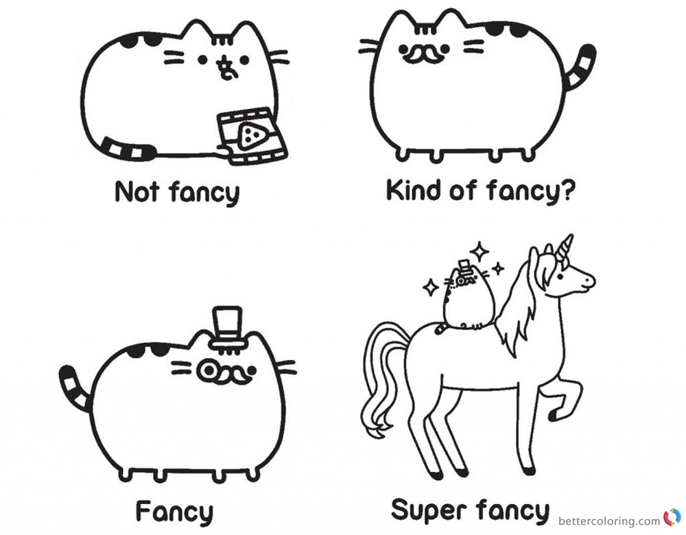 62 EASY PUSHEEN COLORING PAGES UNICORN PRINTABLE PDF
