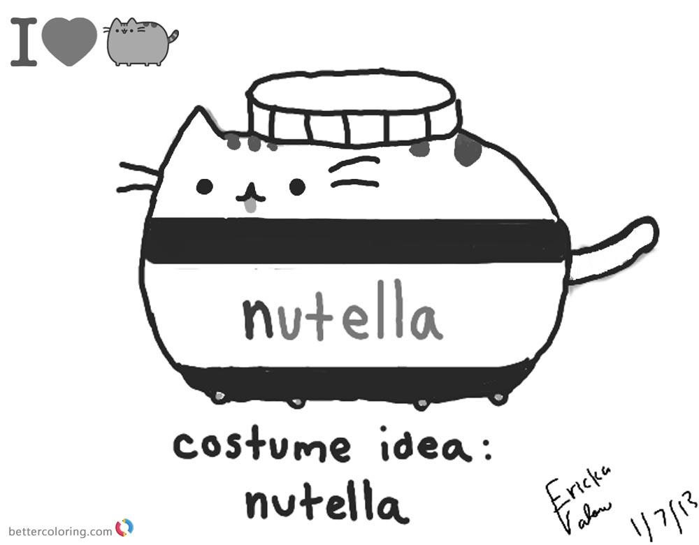 White And Black Cat Meme Pusheen