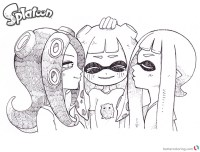 Splatoon 2 Coloring Pages Half breed Drawing Art - Free ...