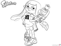 Inkling Splatoon Girl Coloring Pages Coloring Pages