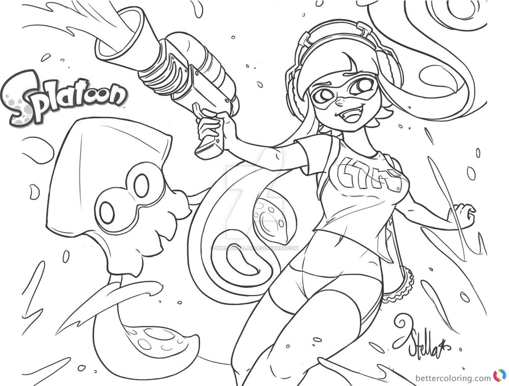 Cozy Splatoon Coloring Pages Lovely Callie And Marie