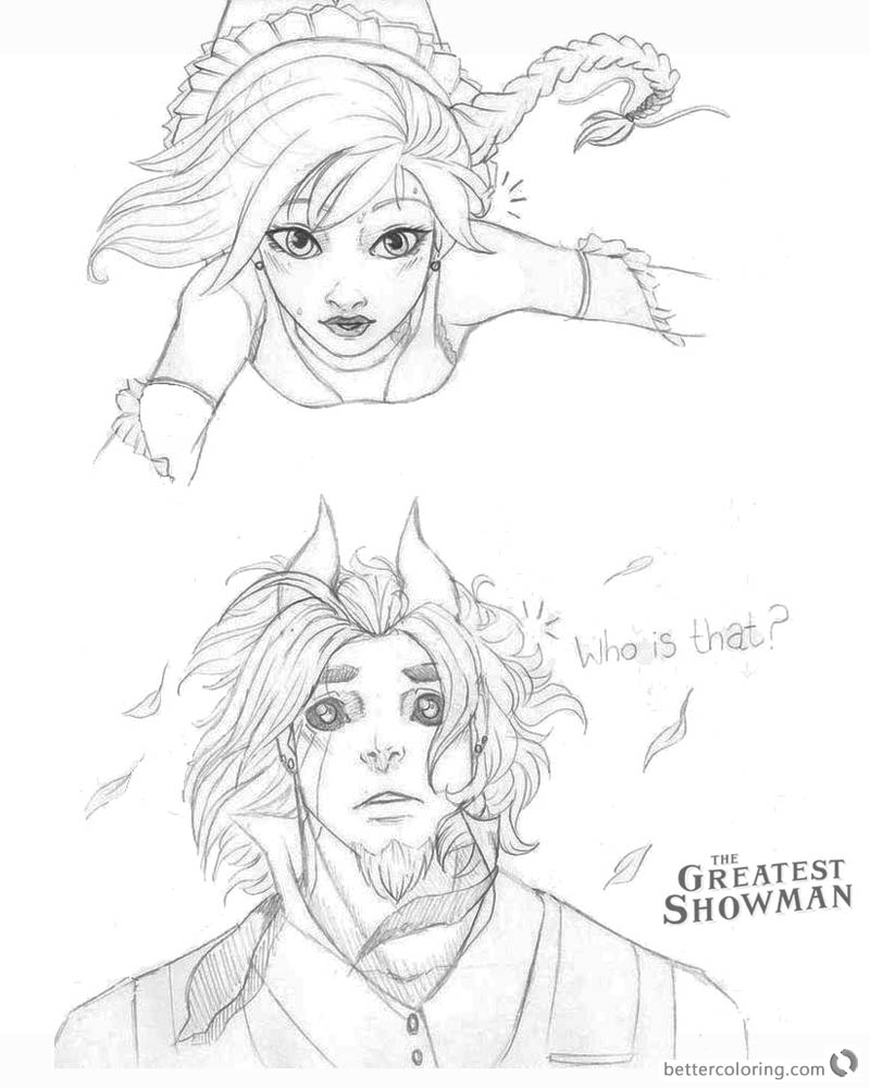The Greatest Showman Coloring Sheets