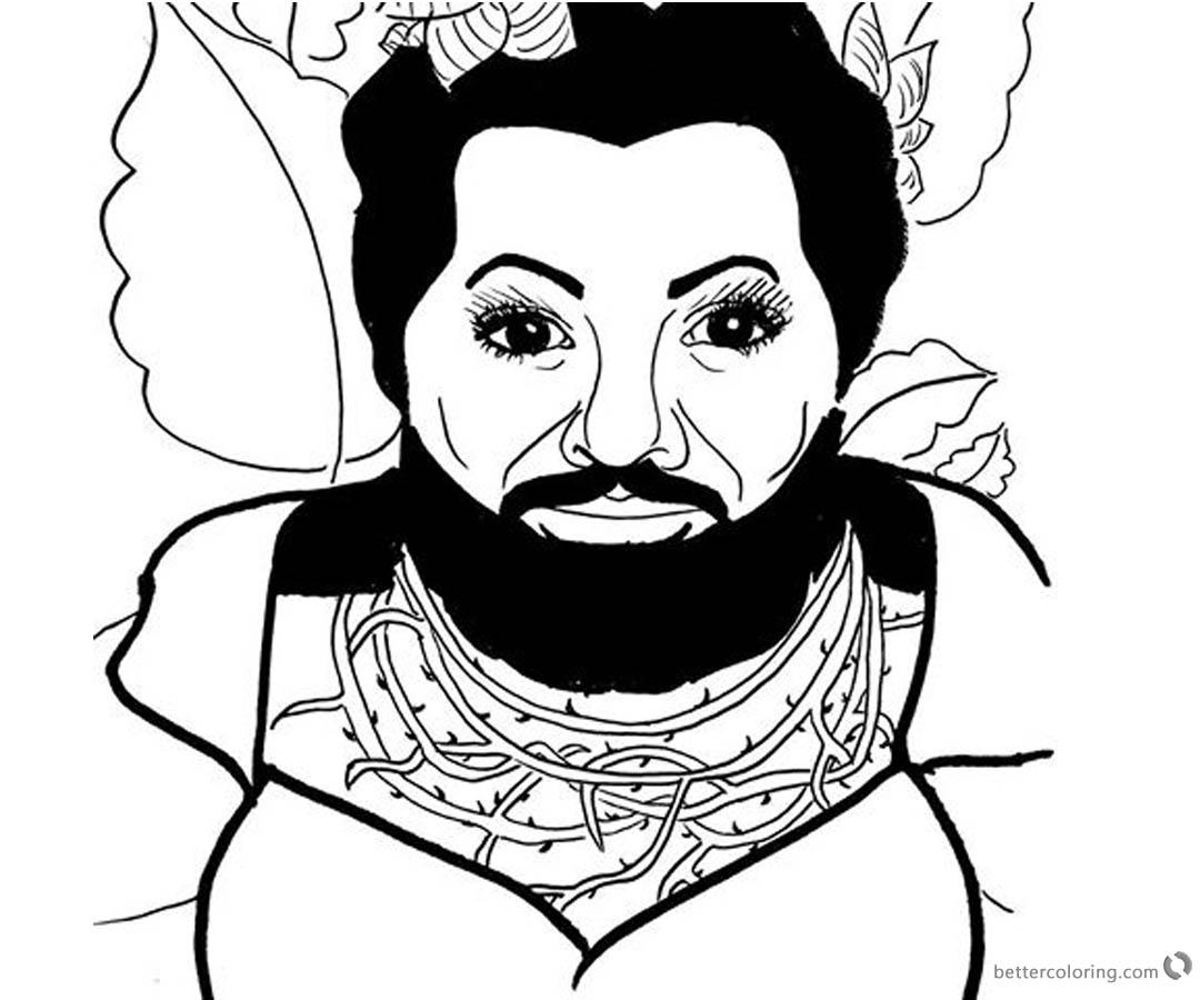 The Greatest Showman Coloring Pages Lettie Fan art Black
