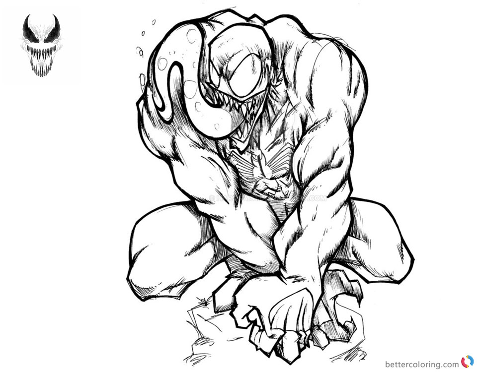 standing spiderman coloring pages | Venom Coloring Pages - Saveoaklandlibrary