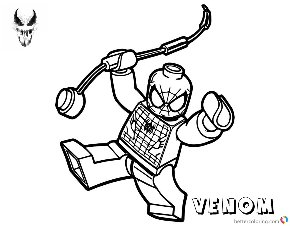 venom coloring pages for kids | Venom Coloring Pages - Causesofchildhoodobesity