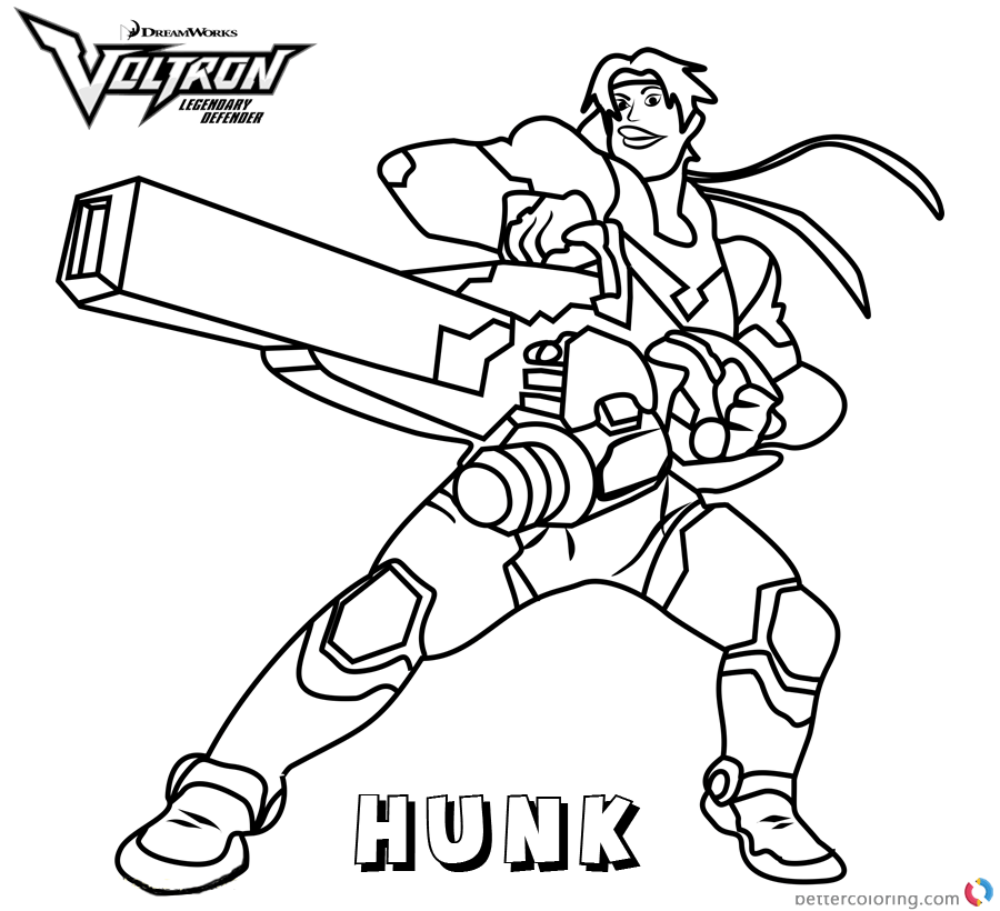 Voltron Coloring Pages Hunk Free Printable Coloring Pages