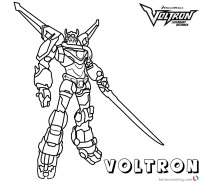Voltron Coloring Sheets Voltron Coloring Sheet