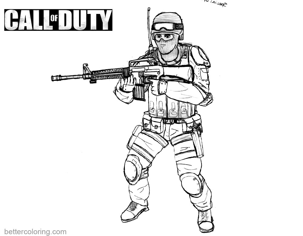 Call Of Duty Black Ops 3 Zombies Coloring Pages Sketch