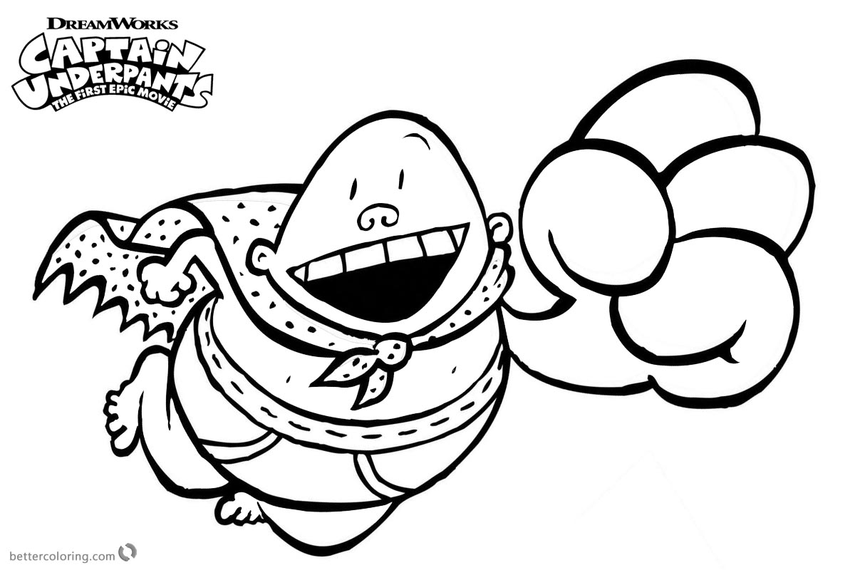 Download Captain Underpants Coloring Pages At 1017 X 786